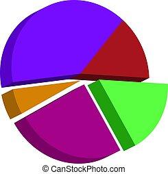 Pie Chart Icon Vector Illustration