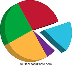 Pie Chart Icon Vector Illustration