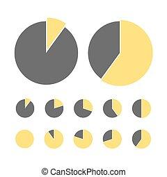 Pie chart statistic concept. Business flow process diagram. Infographic elements for presentation. Percentage vector infographics.