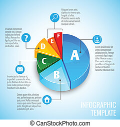 Pie chart web design infographic
