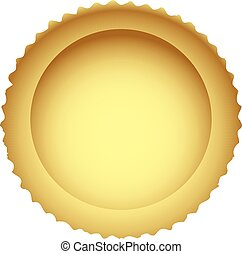 Pie crust - The crust is the basis for an open cake. Vector ...