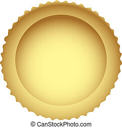 The crust is the basis for an open cake. Vector illustration.