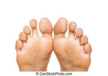 pie, dedos