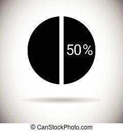 Pie Diagram Chart Graph Percentage Web Icon