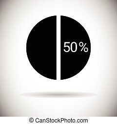 Pie Diagram Chart Graph Percentage Web Icon