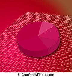 pie grid red