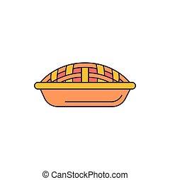 Pie icon, cartoon style