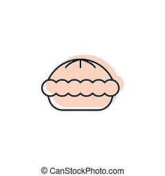 Pie icon, doodle style
