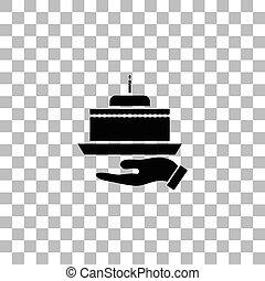 Pie icon flat