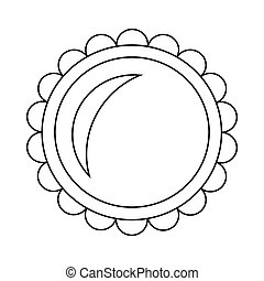 Pie icon in outline style