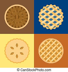 Pie icon set