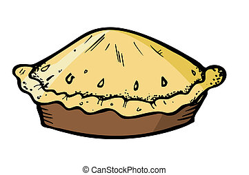 pie in doodle style