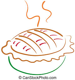 Pie line art