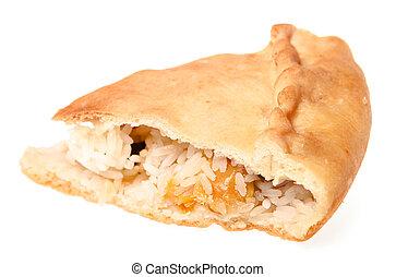 Pie on white background