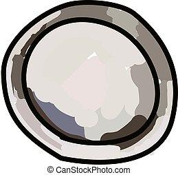 Pie pan, illustration, vector on white background.