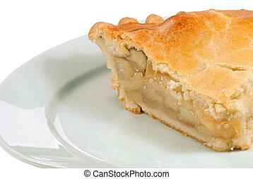 pie, rykke sammen, æble