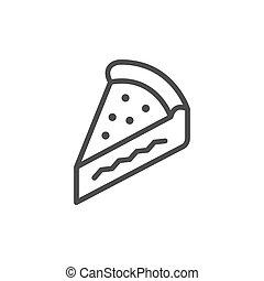 Pie slice line outline icon