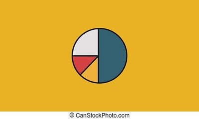Pie statistics graphic HD - Pie statistics graphic over...