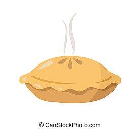 pie vector illustration on white background