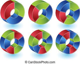Pie Wheel Chart Set
