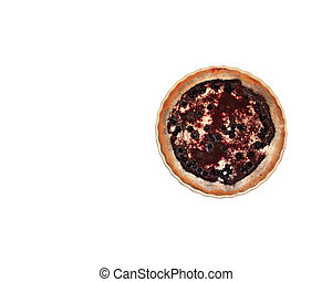 pie with bilberry on the plate isolated