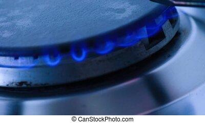 piec, gaz, zapalenie, metan