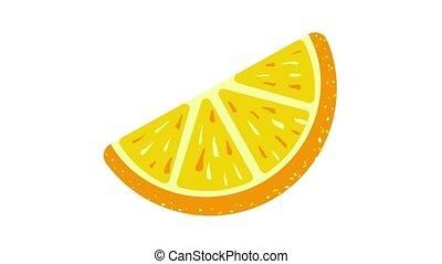 Piece candy orange icon animation best object on white background