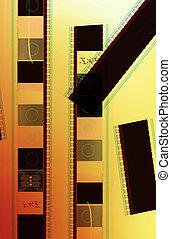 Piece of 35 mm motion film