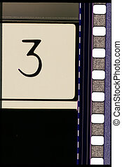 Piece of 35 mm motion film