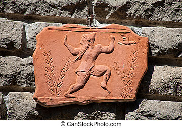 Piece Of Ancient Relief In Terracotta