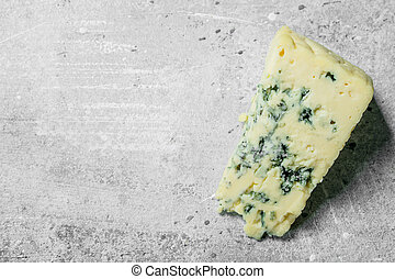 Piece of blue cheese.