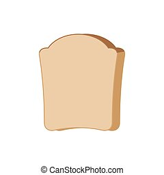 Piece of bread isolated. Food vector illustration