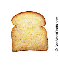 Piece of bread on a white background