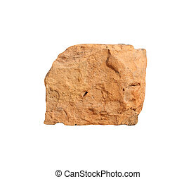 piece of brick on a white background