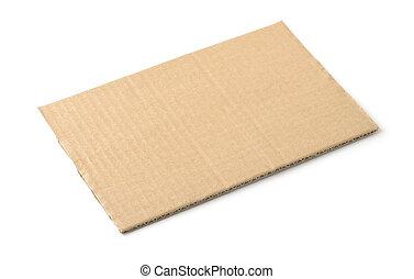 Piece of brown rectangular cardboard sheet