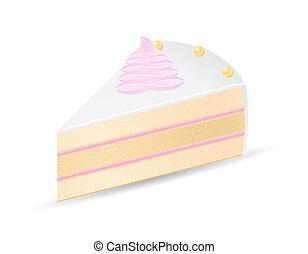 piece of cake illustration isolated on white background