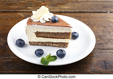 piece of cake on the table