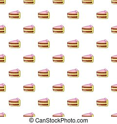 Piece of cake pattern, cartoon style