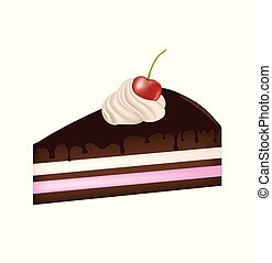 Piece of cake with cherry