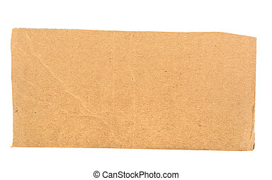 piece of cardboard, background on a white background, isolated