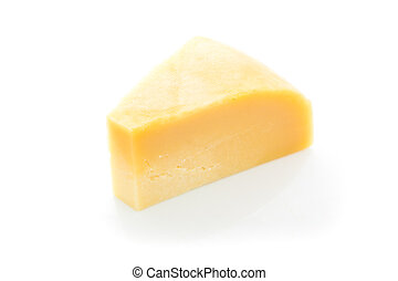 piece of cheese isolated on a white