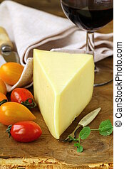 piece of cheese, tomato