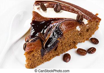 Piece of chocolate pie