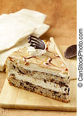 piece of cream caramel cake