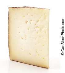 piece of feta cheese, spain; Navarre