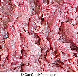 Piece of fresh raw meat background
