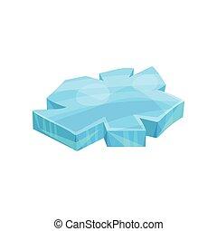 Piece of ice, iceberg vector Illustration