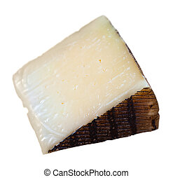 Piece of italian cured sheep cheese Pecorino - Cut piece of ...