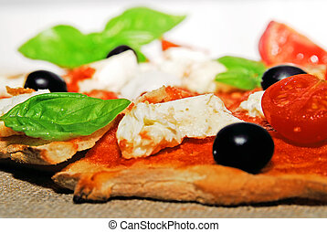 Piece of Italian pizza
