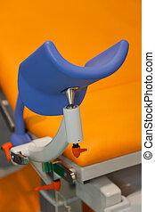 Piece of medical chair closeup.